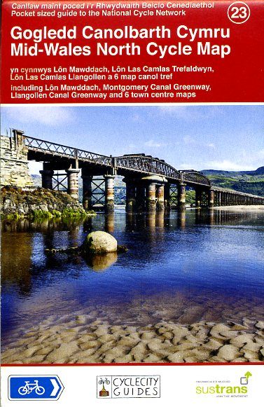 CCG23 Mid-Wales North Cycle Map 1:110.000 9781900623421  Cycle City Guides / Sustrans   Fietskaarten Noord-Wales, Anglesey, Snowdonia