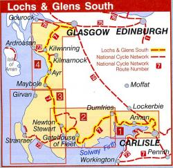 Loch + Glens South 9781901389647  Sustrans Nat. Cycle Network  Fietskaarten Zuid-Schotland