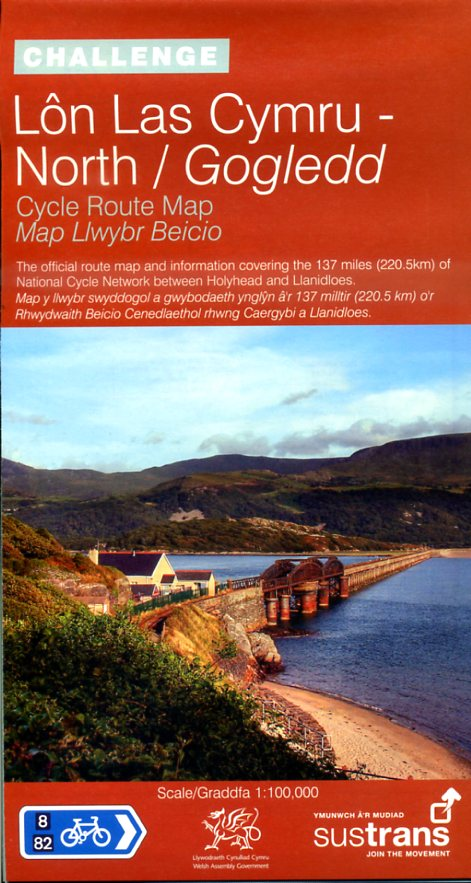 NN08B  Builth Wells to Holyhead 9781901389777  Sustrans Nat. Cycle Network  Fietskaarten Wales