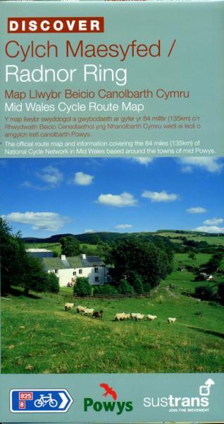 Radnor Ring 9781901389869  Sustrans Nat. Cycle Network  Fietskaarten Wales
