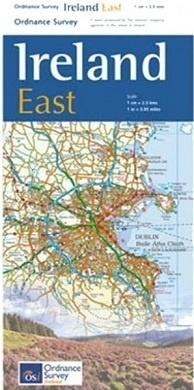 OSHM-3  Ireland East | landkaart - wegenkaart Oost-Ierland 1:250.000 9781908852854  Ordnance Survey Ireland Holiday Maps  Landkaarten en wegenkaarten Wicklow Mountains, Leinster