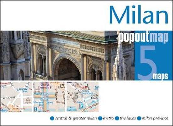 Milaan pop out map | stadsplattegrondje in zakformaat 9781910218051  Grantham Book Services PopOut Maps  Stadsplattegronden Ligurië, Piemonte, Lombardije