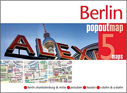 Berlin pop out map | stadsplattegrondje in zakformaat 9781910218464  Grantham Book Services PopOut Maps  Stadsplattegronden Berlijn