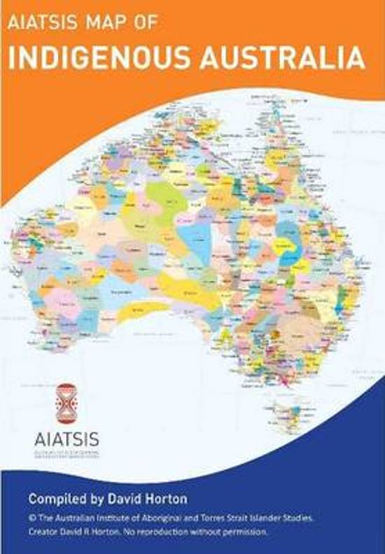 AIATSIS map Indigenous Australia 9781922059697 David Horton Aboriginal Studies Press   Historische reisgidsen, Landeninformatie Australië