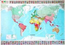 [07] 701 World plano 1:28.500.000 9782061009901  Michelin   Wandkaarten Wereld als geheel