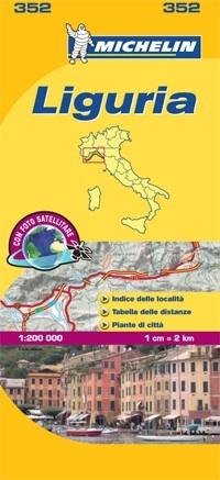 352 Liguria   Michelin  wegenkaart, autokaart 1:200.000 9782067127142  Michelin Michelin Italië 1:200.000  Landkaarten en wegenkaarten Ligurië, Piemonte, Lombardije