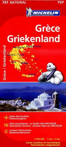737 Michelin wegenkaart Griekenland 1:700.000 9782067172029  Michelin   Landkaarten en wegenkaarten Griekenland