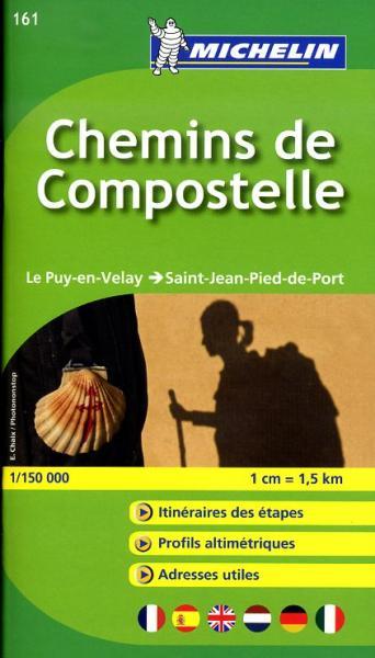 Wandelatlasje de Weg naar Compostela (F) 9782067174016  Michelin   Santiago de Compostela, Wandelkaarten Midden-Frankrijk en Atlantische Kust