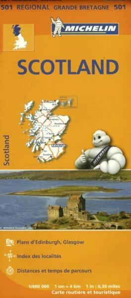 501 Schotland   Michelin  wegenkaart, autokaart 1:400.000 9782067183193  Michelin   Landkaarten en wegenkaarten Schotland