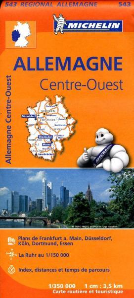 543 Nordrhein-Westfalen 1:350.000 wegenkaart NRW 9782067183582  Michelin Mich. Region. Krtn. Dtsl.  Landkaarten en wegenkaarten Duitsland