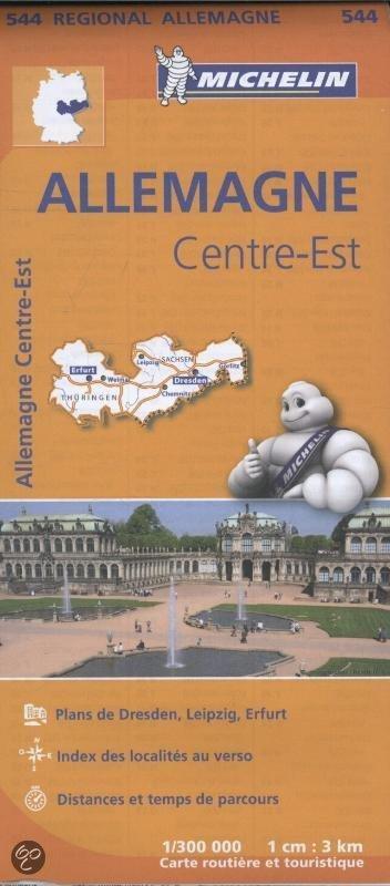 544 Thüringen/Sachsen | Michelin  wegenkaart, autokaart 1:300.000 9782067183612  Michelin Mich. Region. Krtn. Dtsl.  Landkaarten en wegenkaarten Sachsen, Thüringen, Weimar, Erfurt, Jena
