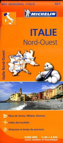 561  Italie NW   Michelin  wegenkaart, autokaart 1:400.000 9782067183919  Michelin   Landkaarten en wegenkaarten Ligurië, Piemonte, Lombardije