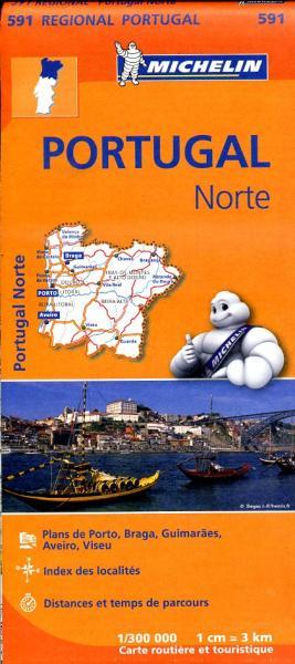 591  Noord-Portugal | Michelin  wegenkaart, autokaart 1:300.000 9782067184725  Michelin   Landkaarten en wegenkaarten Noord en Midden-Portugal, Lissabon