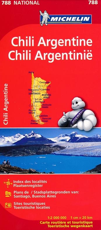 788  Chili en Argentinië 1:2.000.000 9782067185616  Michelin   Landkaarten en wegenkaarten Zuidelijk Zuid-Amerika en Antarctica