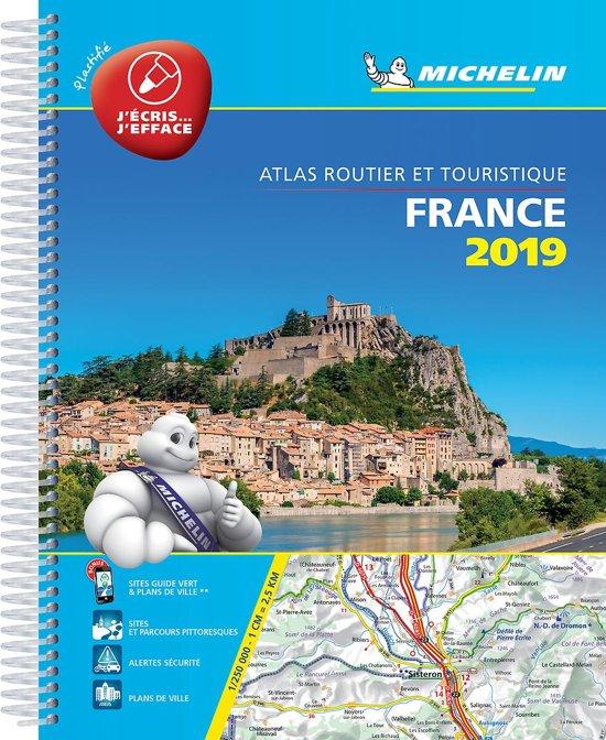 France Tourisme 1/250.000 (A4 multiflex) 2019 9782067236011  Michelin Wegenatlassen  Wegenatlassen Frankrijk