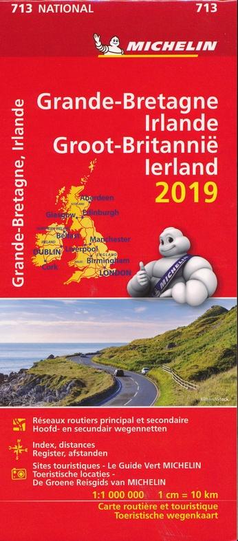 713 Groot-Brittannië 1:1.000.000 2019 9782067236400  Michelin Michelinkaarten Jaaredities  Landkaarten en wegenkaarten Groot-Brittannië