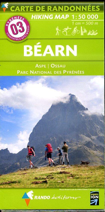 RP-03  Béarn 1:50.000 9782344008058  Rando Editions Randonnées Pyrénéennes  Wandelkaarten Franse Pyreneeën, Toulouse, Gers, Garonne