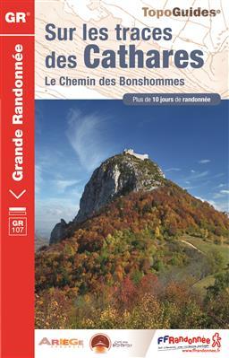 TG1097  Sur les Traces des Cathares  | wandelgids GR-107 9782751408168  FFRP Topoguides  Meerdaagse wandelroutes, Wandelgidsen Pyreneeën en Baskenland
