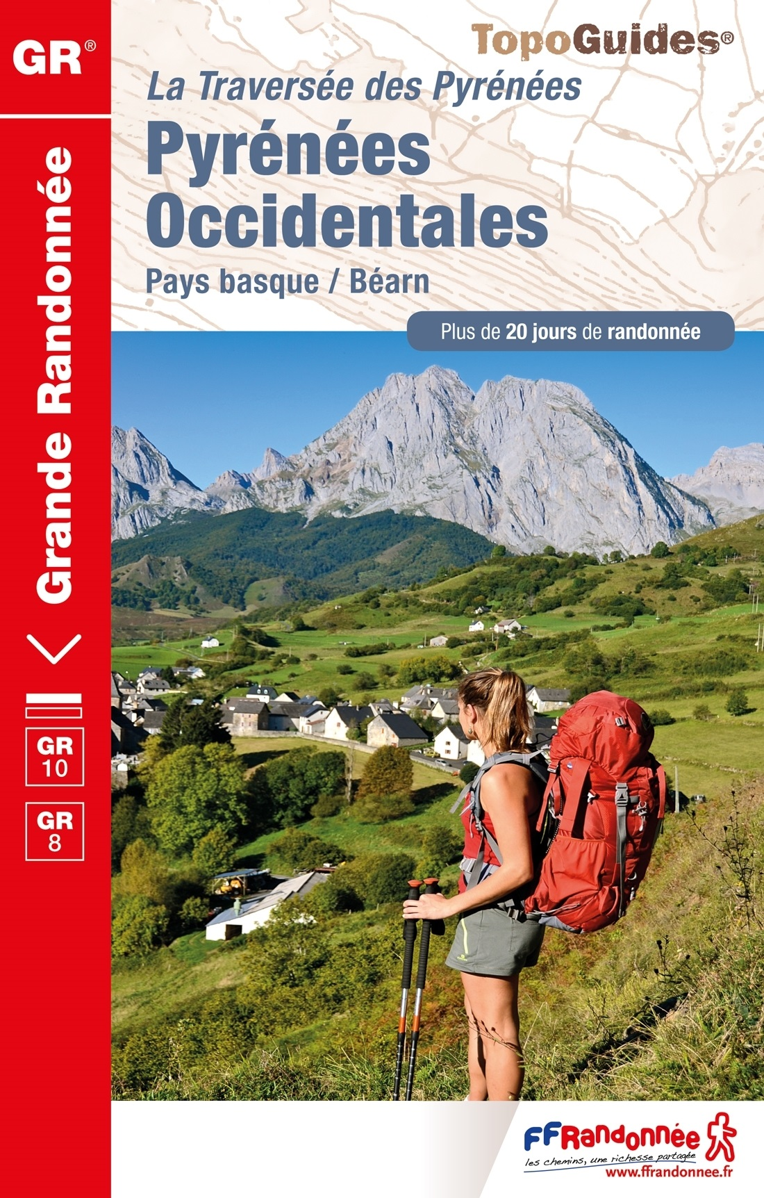 TG1086 Pyrénées Occidentales | wandelgids GR-10 9782751409844  FFRP Topoguides  Meerdaagse wandelroutes, Wandelgidsen Baskenland, Franse Pyreneeën, Toulouse, Gers, Garonne