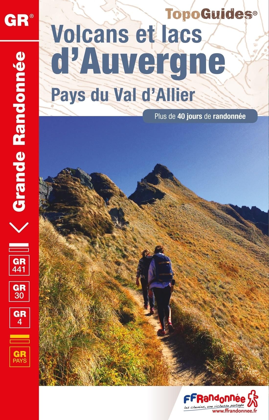 TG304  Volcans et Lacs   | wandelgids GR-441/GR-30 9782751410109  FFRP Topoguides  Meerdaagse wandelroutes, Wandelgidsen Auvergne, Cantal, Forez