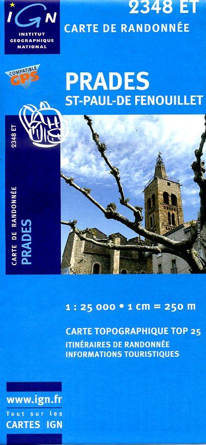 2348ET  Prades, Sournia   wandelkaart 1:25.000 9782758503231  IGN TOP 25  Wandelkaarten Franse Pyreneeën, Toulouse, Gers, Garonne
