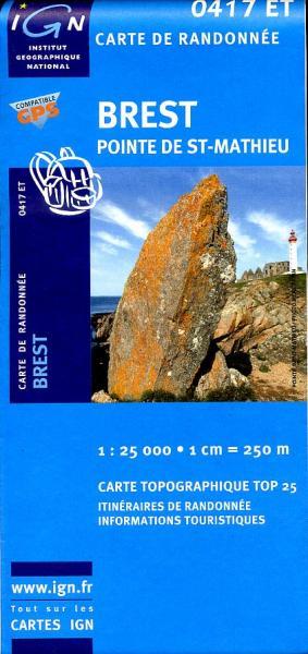 0417ET  Brest, Pointe de St-Mathieu | wandelkaart 1:25.000 9782758505235  IGN TOP 25  Wandelkaarten Bretagne