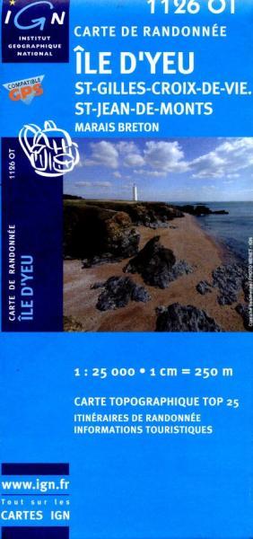 1126OT St-Jeans-d-Monts, Marais Breton | wandelkaart 1:25.000 9782758509967  IGN TOP 25  Wandelkaarten Loire Atlantique, Charente, Vendée