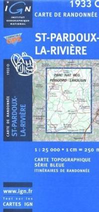 1933 Ouest  St-Pardoux-la-Rivière 9782758521617  IGN Serie Bleue 1:25.000  Wandelkaarten Midden-Frankrijk en Atlantische Kust