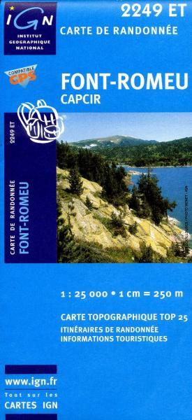 2249ET  Font Romeu, Capcir | wandelkaart 1:25.000 9782758522430  IGN TOP 25  Wandelkaarten Franse Pyreneeën, Toulouse, Gers, Garonne