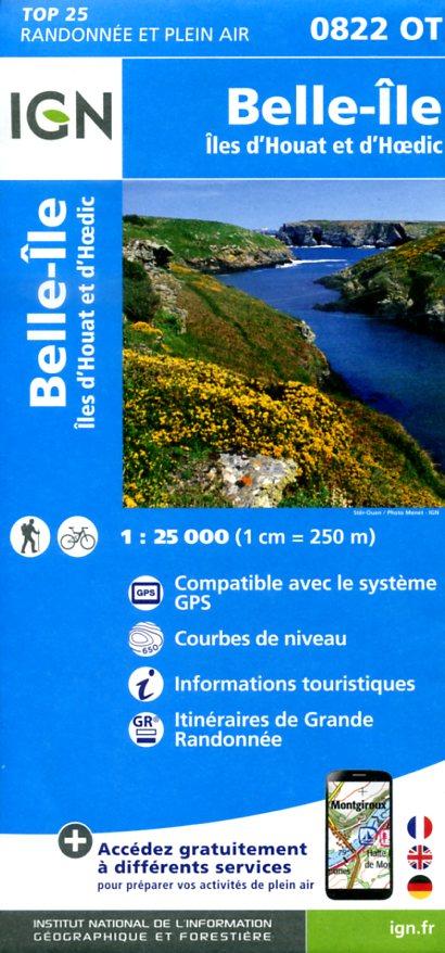 0822OT   Belle-Île | wandelkaart 1:25.000 9782758533672  IGN TOP 25  Wandelkaarten Bretagne