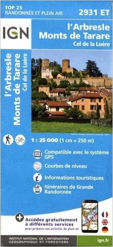 2931ET   l'Arbresle | wandelkaart 1:25.000 9782758535003  IGN TOP 25  Wandelkaarten Lyon, Ain