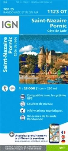 1123OT  St.Nazaire, Pornic, St-Brévin | wandelkaart 9782758536918  IGN TOP 25  Wandelkaarten Loire Atlantique, Charente, Vendée