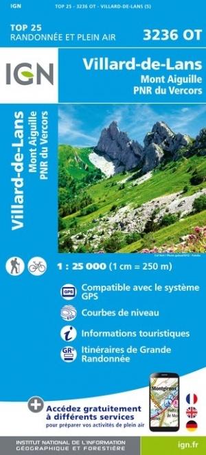 3236OT Villard-de-Lans - Vercors | wandelkaart 1:25.000 9782758538899  IGN TOP 25  Wandelkaarten Drôme, Vercors