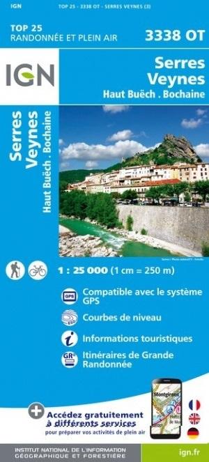 3338OT   Aspres-sur-Buëch, Veynes | wandelkaart 1:25.000 9782758539926  IGN TOP 25  Wandelkaarten Alpes de Haute-Provence, Gorges du Verdon