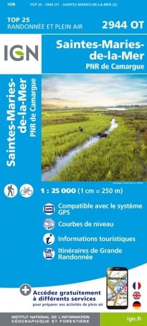 2944OT  Camargue, Ste-Marie-de-la-Mer | wandelkaart 1:25.000 9782758541660  IGN TOP 25  Wandelkaarten Camargue