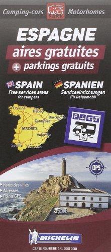 Espagne aires gratuites mich + parkings gratuits 9782919004294  Michelin Aires gratuites  Campinggidsen, Op reis met je camper Spanje