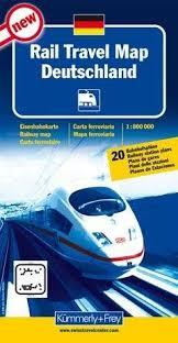 Duitsland Spoorwegenkaart 1:800.000 9783259001233  Kümmerly & Frey   Landkaarten en wegenkaarten Duitsland