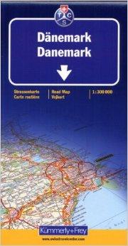 Denemarken 1:300.000 9783259011454  Kümmerly & Frey   Landkaarten en wegenkaarten Denemarken