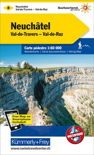 KFW-08   Val de Travers, Neuchâtel   wandelkaart / overzichtskaart 9783259022085  Kümmerly & Frey Wandelkaarten Zwitserland  Wandelkaarten Berner Oberland, Basel, Jura, Genève