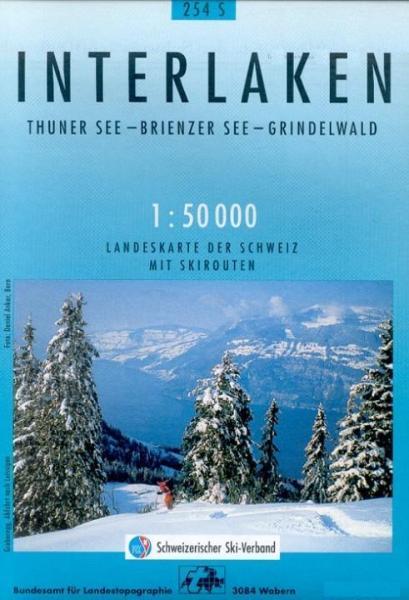 S254  Interlaken [2004] 9783302202549  Bundesamt / Swisstopo Skirouten 1:50.000  Wintersport Berner Oberland, Basel, Jura, Genève