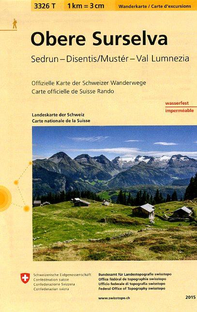 3326T Obere Surselva 9783302333267  Bundesamt / Swisstopo Wanderkarten 1:33.333  Wandelkaarten Graubünden, Tessin