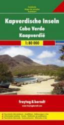Kapverdische Inseln | autokaart, wegenkaart 1:80.000 9783707900255  Freytag & Berndt   Landkaarten en wegenkaarten Kaapverdische Eilanden