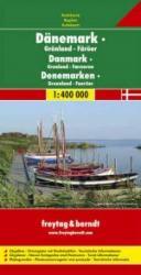 Denemarken   autokaart, wegenkaart 1:400.000 9783707900309  Freytag & Berndt   Landkaarten en wegenkaarten Denemarken, Groenland