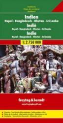 India | autokaart, wegenkaart 1:2.750.000 9783707902655  Freytag & Berndt   Landkaarten en wegenkaarten India
