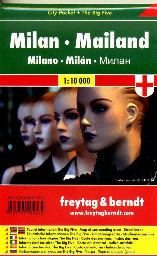 Milaan 1:10.000 | stadsplattegrond 9783707909272  Freytag & Berndt Compact plattegrond  Stadsplattegronden Ligurië, Piemonte, Lombardije