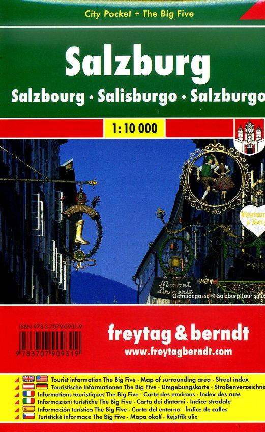 Salzburg 1:10.000 | stadsplattegrond 9783707909319  Freytag & Berndt Compact plattegrond  Stadsplattegronden Salzburg, Karinthië, Tauern, Stiermarken