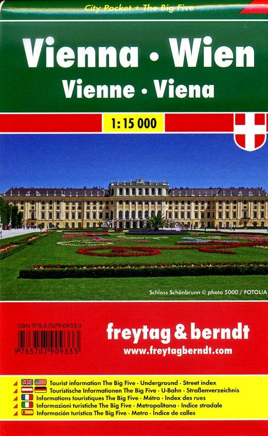Wenen (Wien) 1:15.000 | stadsplattegrond 9783707909333  Freytag & Berndt Compact plattegrond  Stadsplattegronden Wenen, Noord- en Oost-Oostenrijk