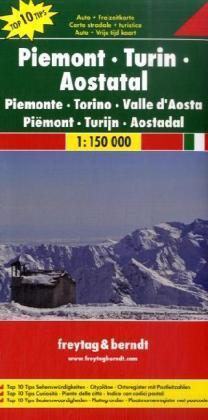 Piemonte   autokaart, wegenkaart 1:150.000 9783707909609  Freytag & Berndt Italië Wegenkaarten  Landkaarten en wegenkaarten Ligurië, Piemonte, Lombardije