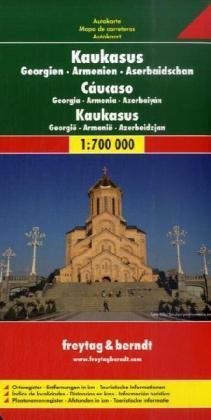 Georgie/ Armenie/ Azerbaidzjan   autokaart, wegenkaart 1:700.000 9783707909739  Freytag & Berndt   Landkaarten en wegenkaarten Kaukasus