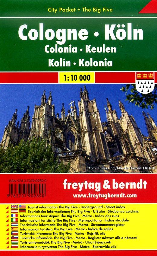 Keulen (Köln) 1:10.000 | stadsplattegrond 9783707909890  Freytag & Berndt Compact plattegrond  Stadsplattegronden Aken, Keulen en Bonn